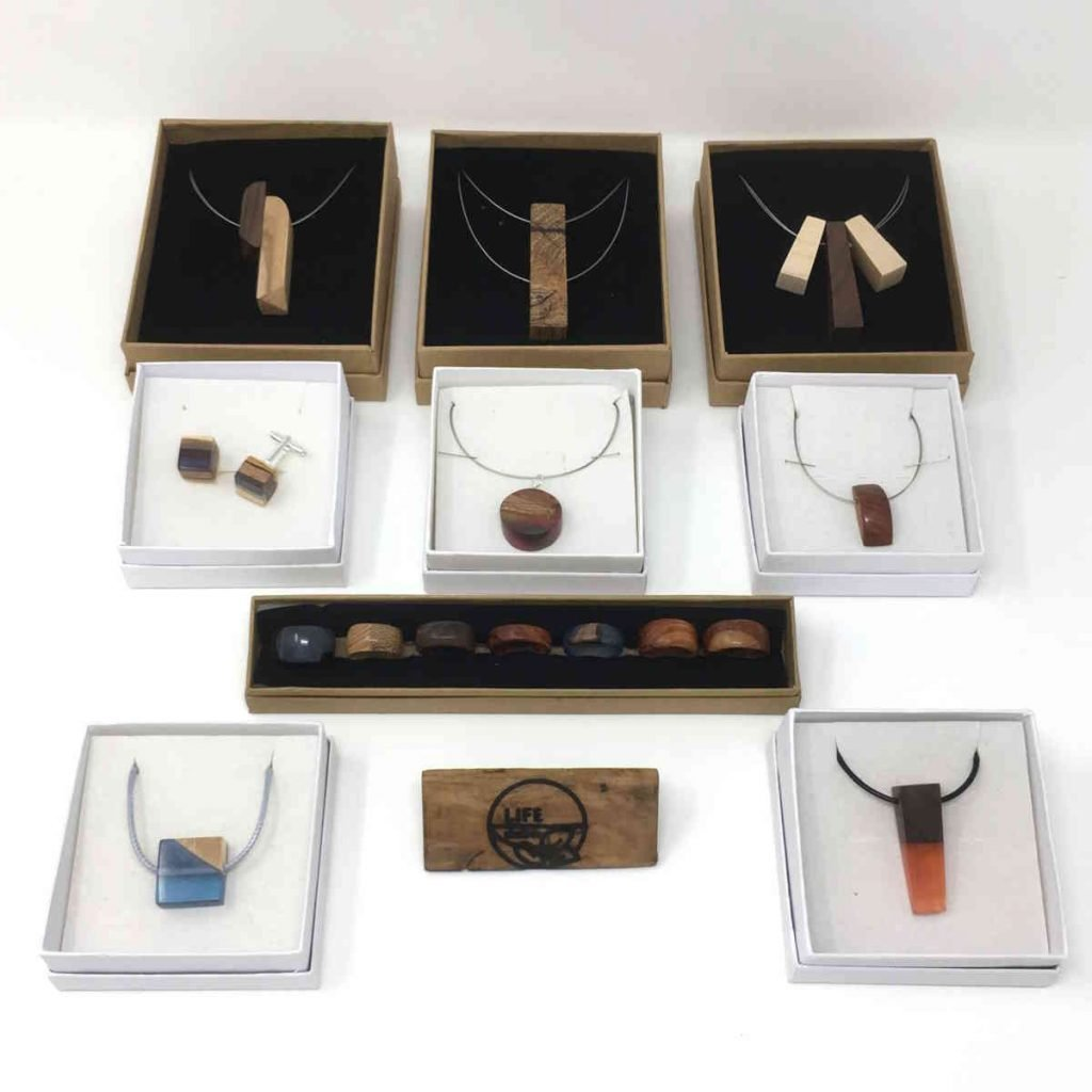 various jewellery in boxes