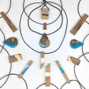 various resin pendants